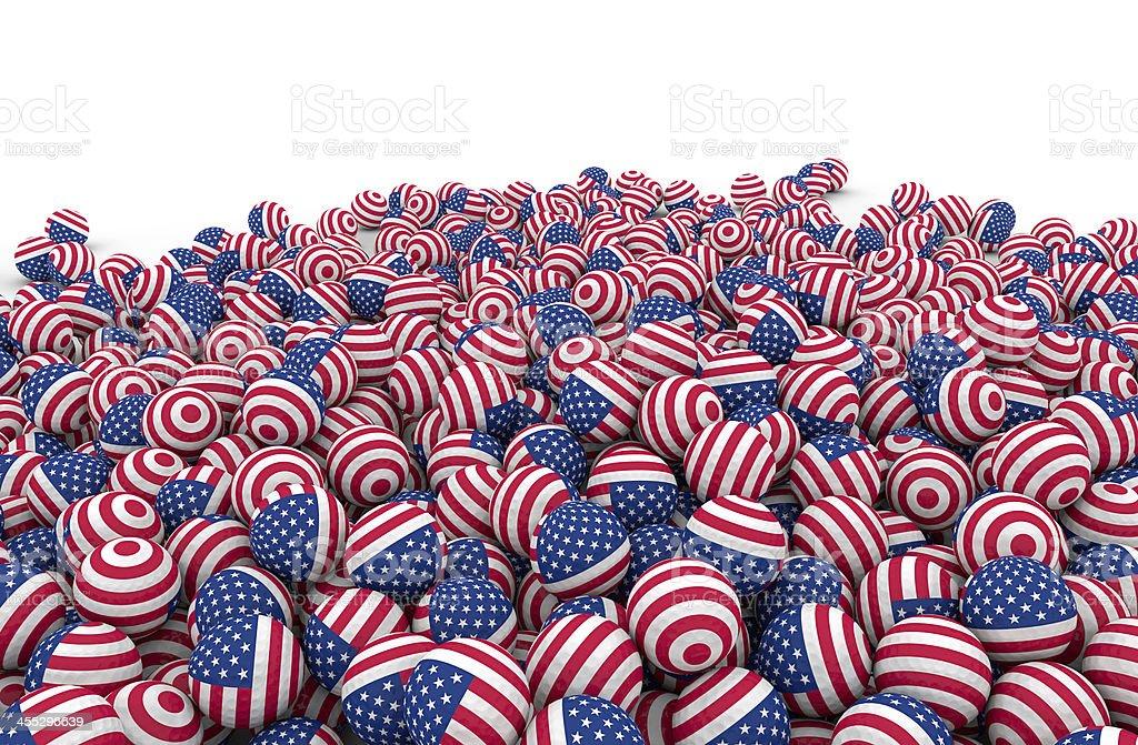 bunch of american golf balls stock photo