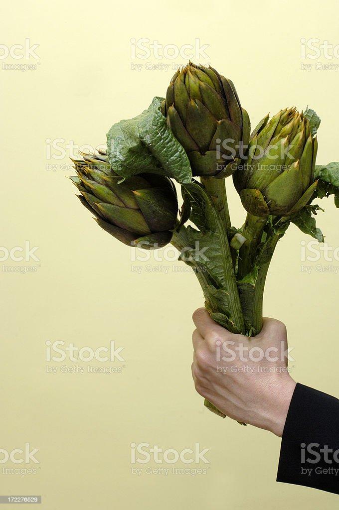 Bunch of artichokes royalty-free stock photo