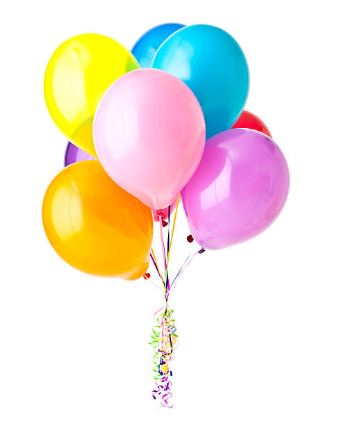 haufen bunte ballons - bund stock-fotos und bilder