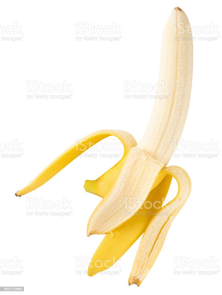 Bunch of bananas isolated on a white background stock photo