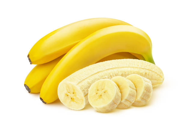Bunch of bananas isolated on white background Banana. Bunch of cut peeled bananas isolated on white background with clipping path banana stock pictures, royalty-free photos & images