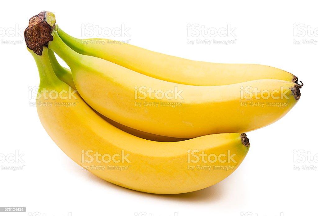 Bunch of Bananas Isolated stock photo
