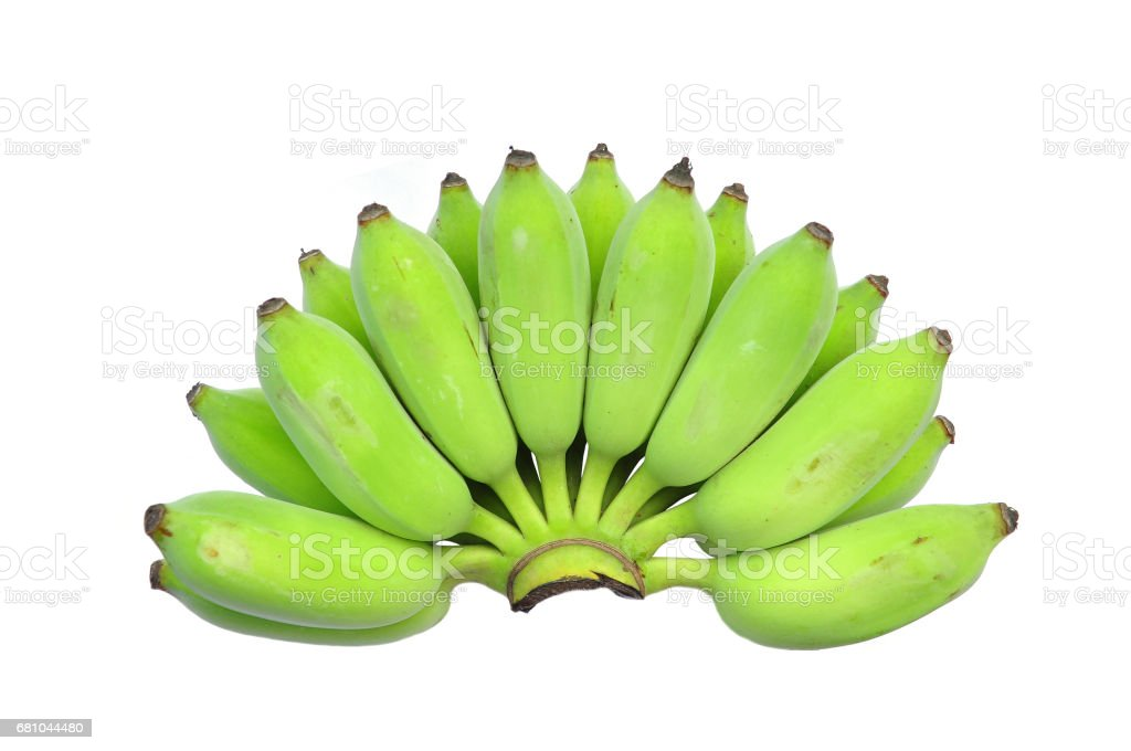 Bunch of bananas isolated royalty-free stock photo