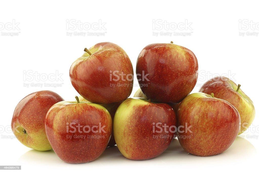 bunch of braeburn apples stock photo