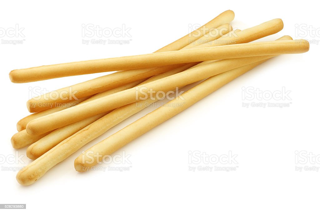 bunch of bread sticks stock photo