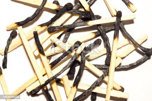 istock Bunch of burnt matchsticks 180885535