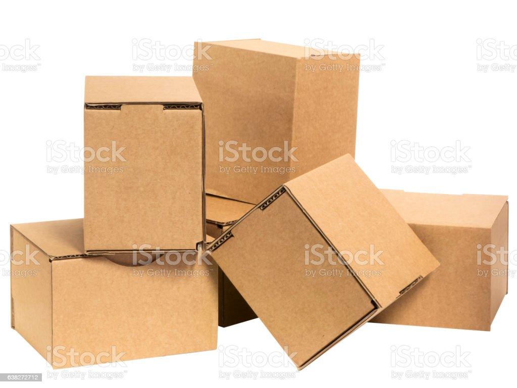 Bunch of cardboard stock photo