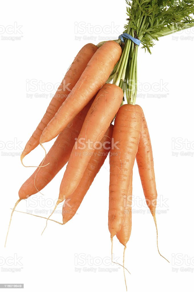 bunch of carrots isolated royalty-free stock photo