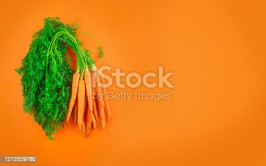 Carrots isolated vegetables on white background