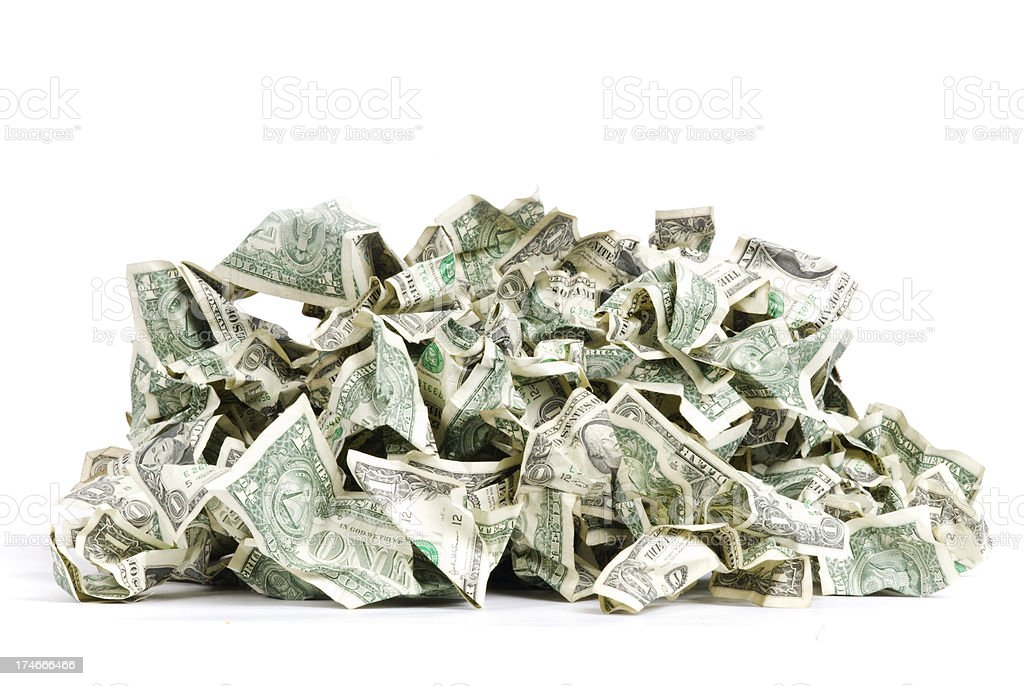 Bunch of Cash stock photo