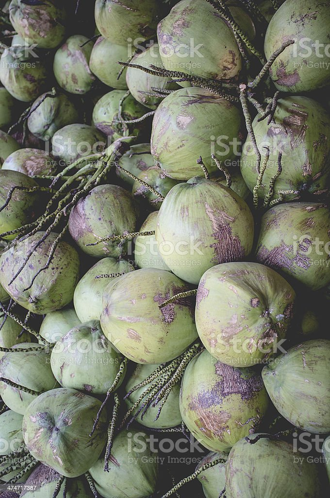 Bunch of Coconuts stock photo