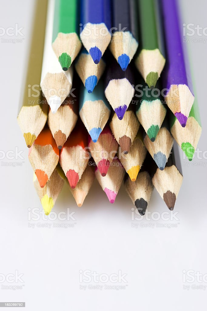 bunch of colored pencils royalty-free stock photo