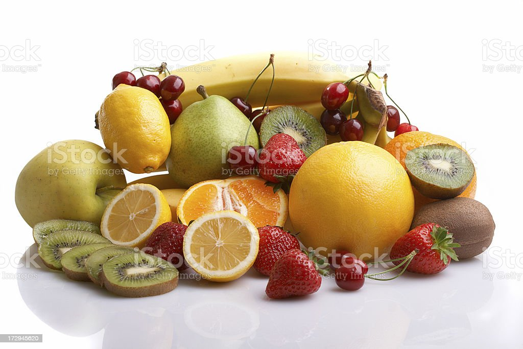 Bunch of different fruits royalty-free stock photo