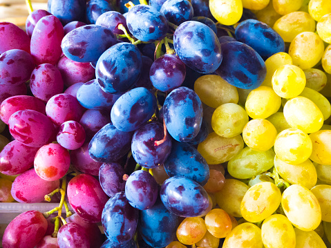 istock Bunch of different types of fresh grapes 869375198
