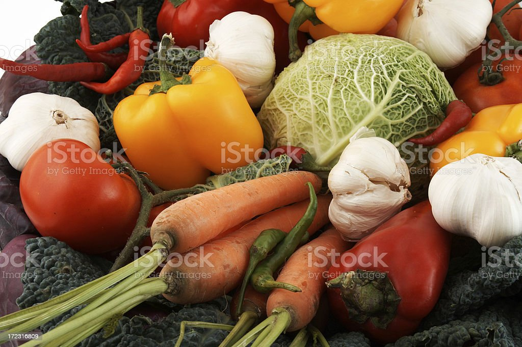 Bunch of different vegetables royalty-free stock photo