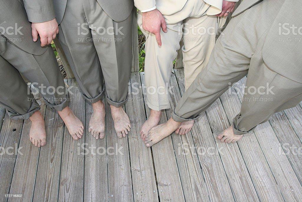 Bunch of Feet stock photo