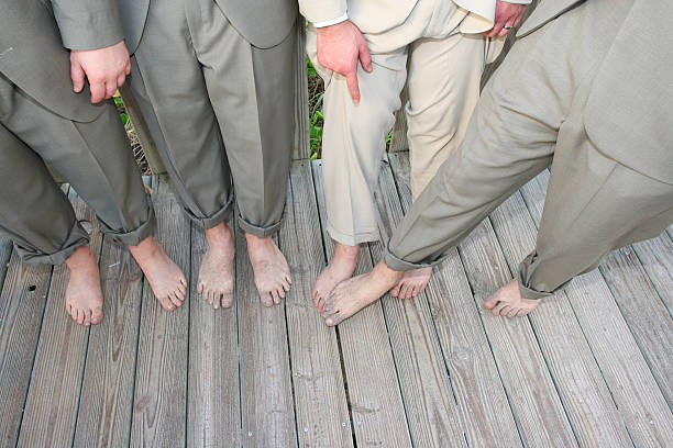 Bunch of Feet stock photo