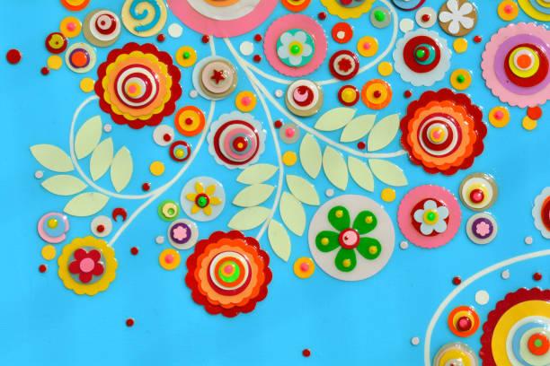 bündel von blumen, abstrakte farbe acryl-malerei auf leinwand, 3d, drei, dimensionale prägung und schnitzerei. einzigartige technik. nachahmung von blumenseitiger oberfläche. hochtexturiert. - foto collage geschenk stock-fotos und bilder