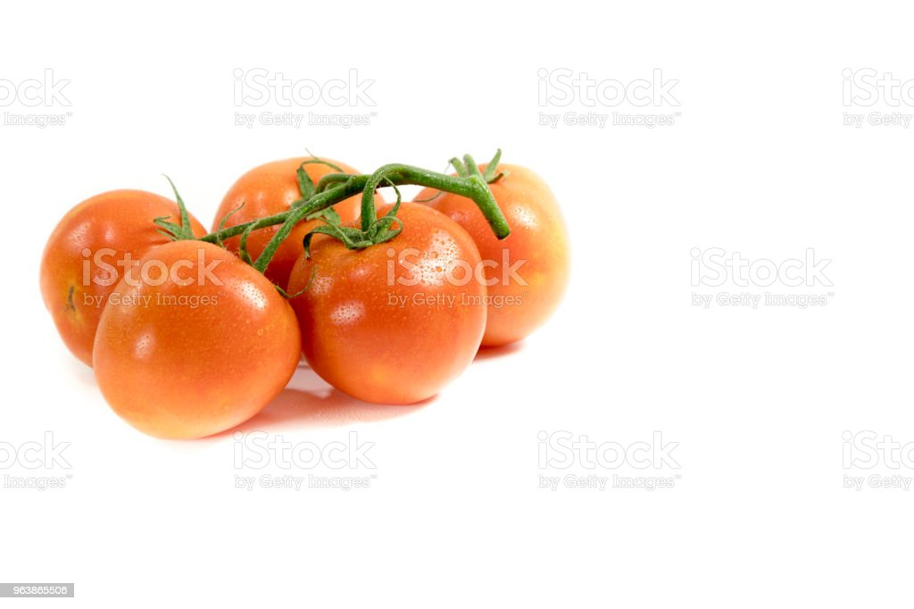 Bunch of fresh and wet tomatoes - Royalty-free Bunch Stock Photo