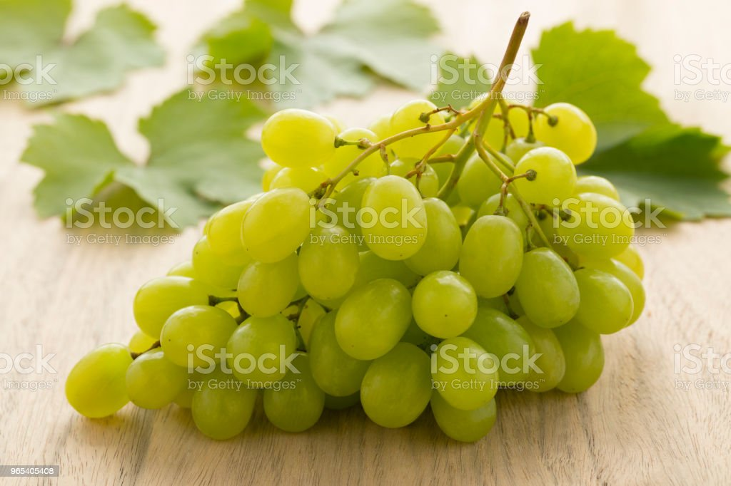 Bunch of fresh green grapes royalty-free stock photo
