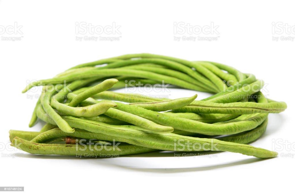 Bunch of fresh long bean stock photo