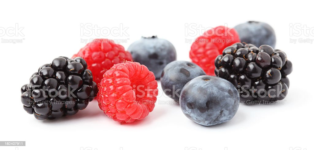 A bunch of fresh mixed berries  royalty-free stock photo