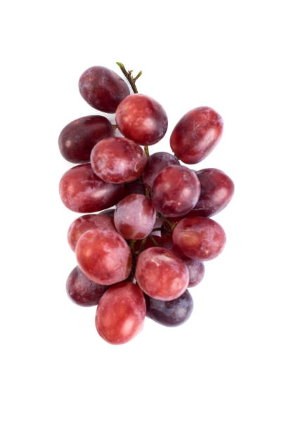 Cтоковое фото Bunch of fresh ripe juicy red grape flat lay on white