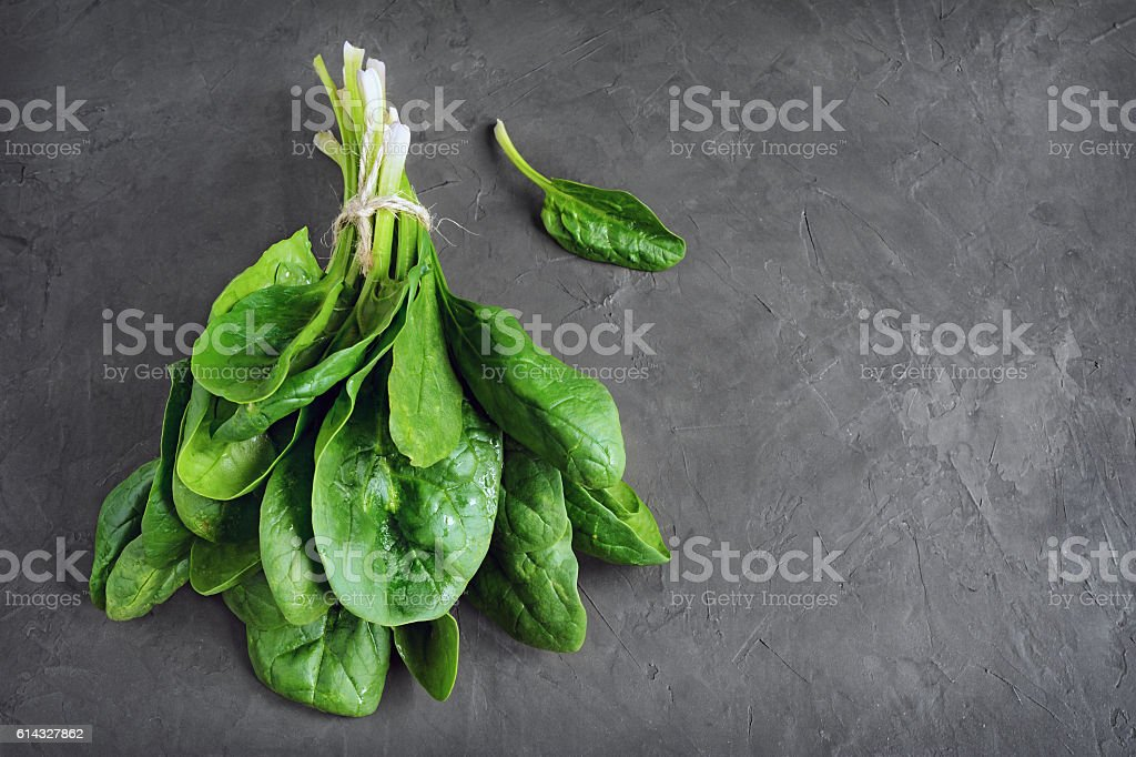 Bunch of fresh spinach stock photo