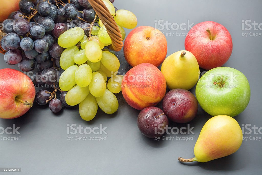 Bunch of fruits stock photo