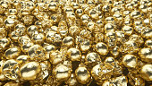 istock A bunch of golden skulls lie on top of each other. The concept of greed. 3d illustration 1185003276