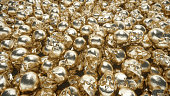 istock A bunch of golden skulls lie on top of each other. The concept of greed. 3d illustration 1185003290