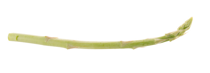 istock Bunch of green asparagus isolated on white background 817663458