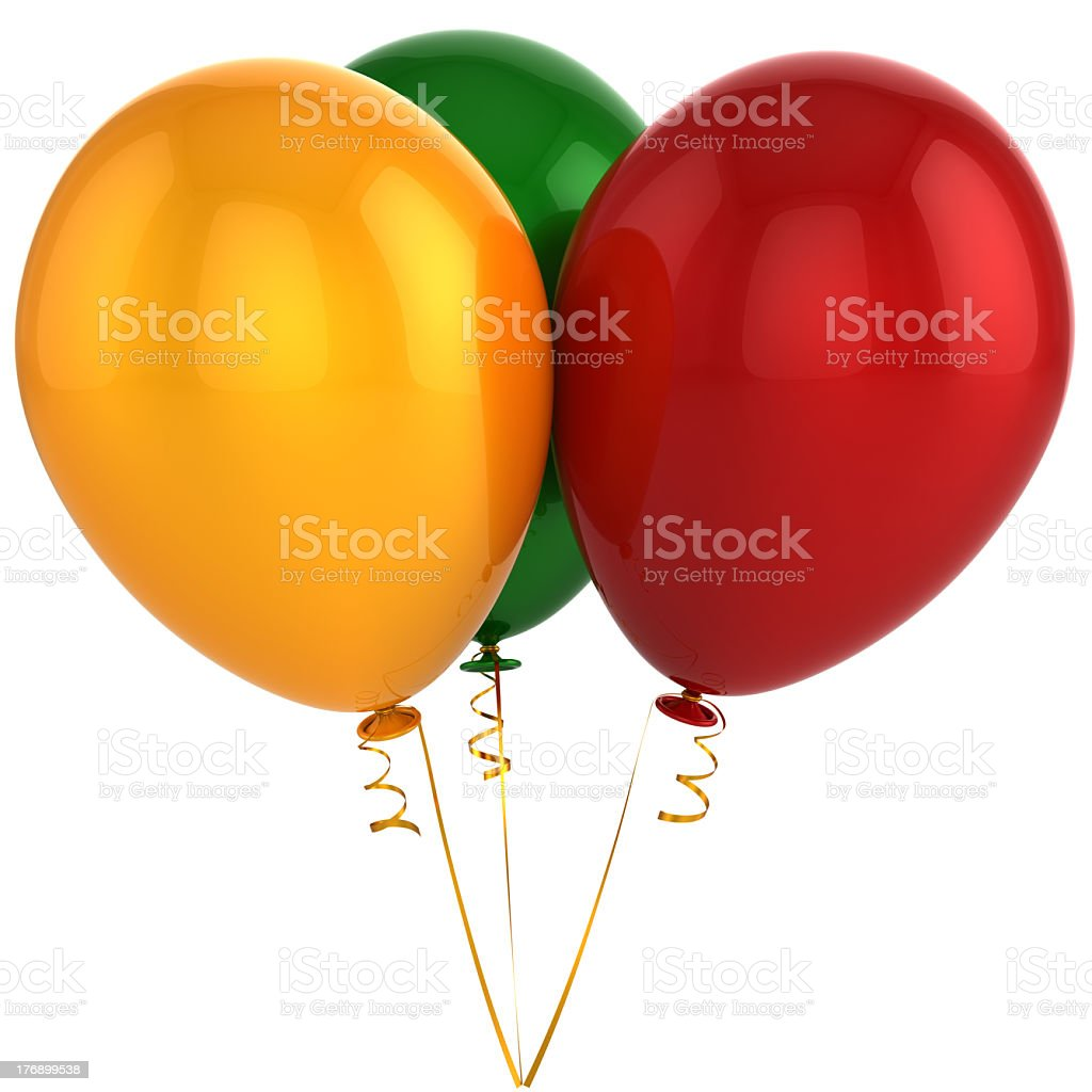 Bunch of helium balloons (Hi-Res) royalty-free stock photo