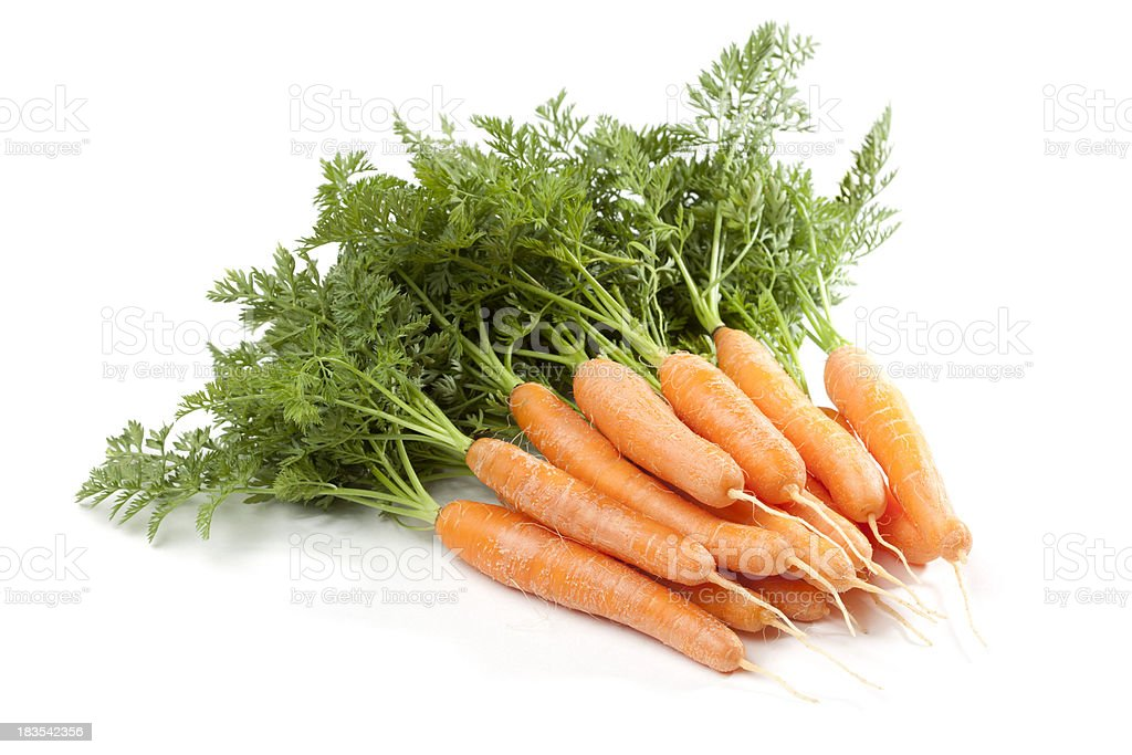 Bunch of Homegrown Baby Carrots stock photo