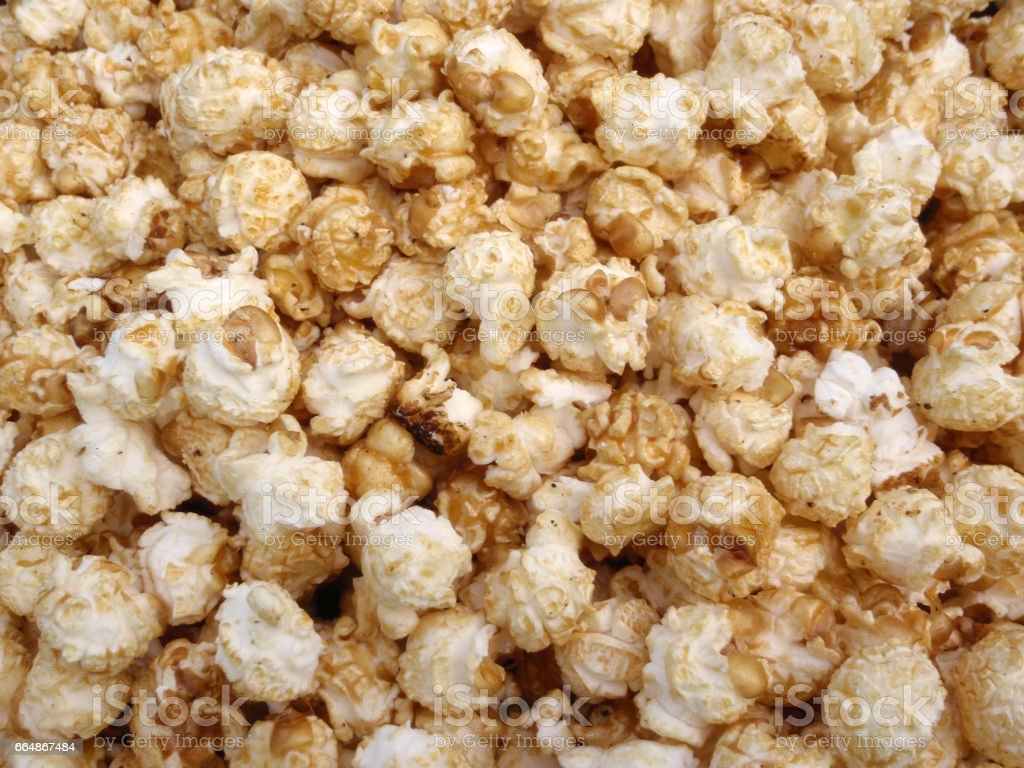 Bunch of Kettle Corn Popcorn stock photo