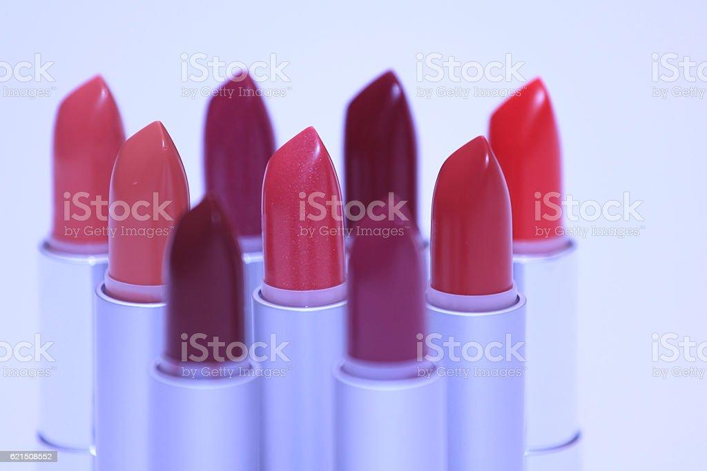 Tas de lipsticks photo libre de droits