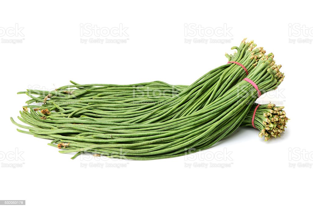 Bunch of Long Beans stock photo