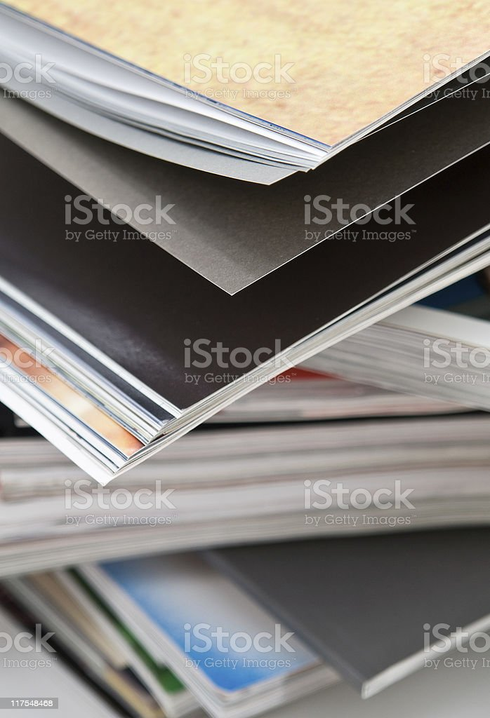 Bunch of magazines royalty-free stock photo