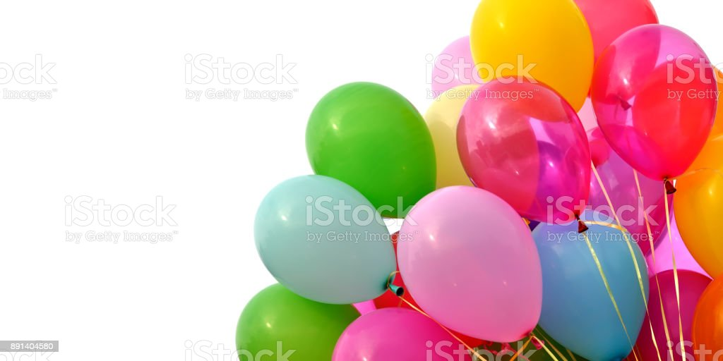 bunch of multicolored balloons stock photo