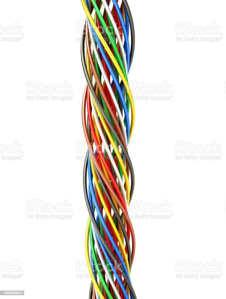 A Bunch Of Multicolored Electric Wires 3d Illustration Stock Photo Electrical Wiring Contractor Multi Colored Royalty Free