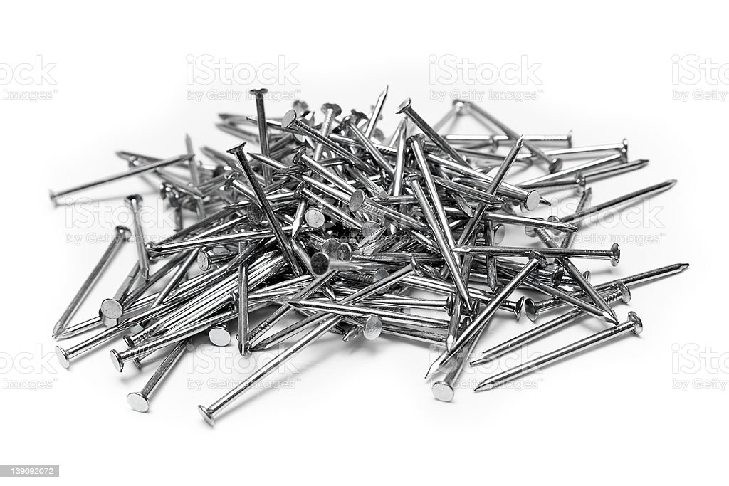 Bunch of Nails royalty-free stock photo