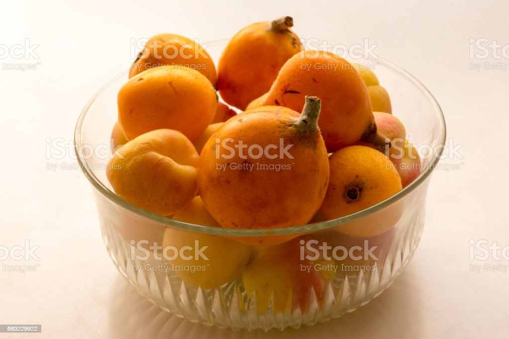 A bunch of nisperos ready to eat 免版稅 stock photo