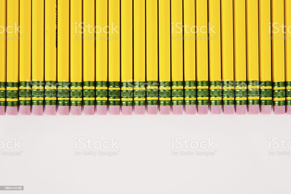 Bunch of Number 2 Pencil Erasers royalty-free stock photo