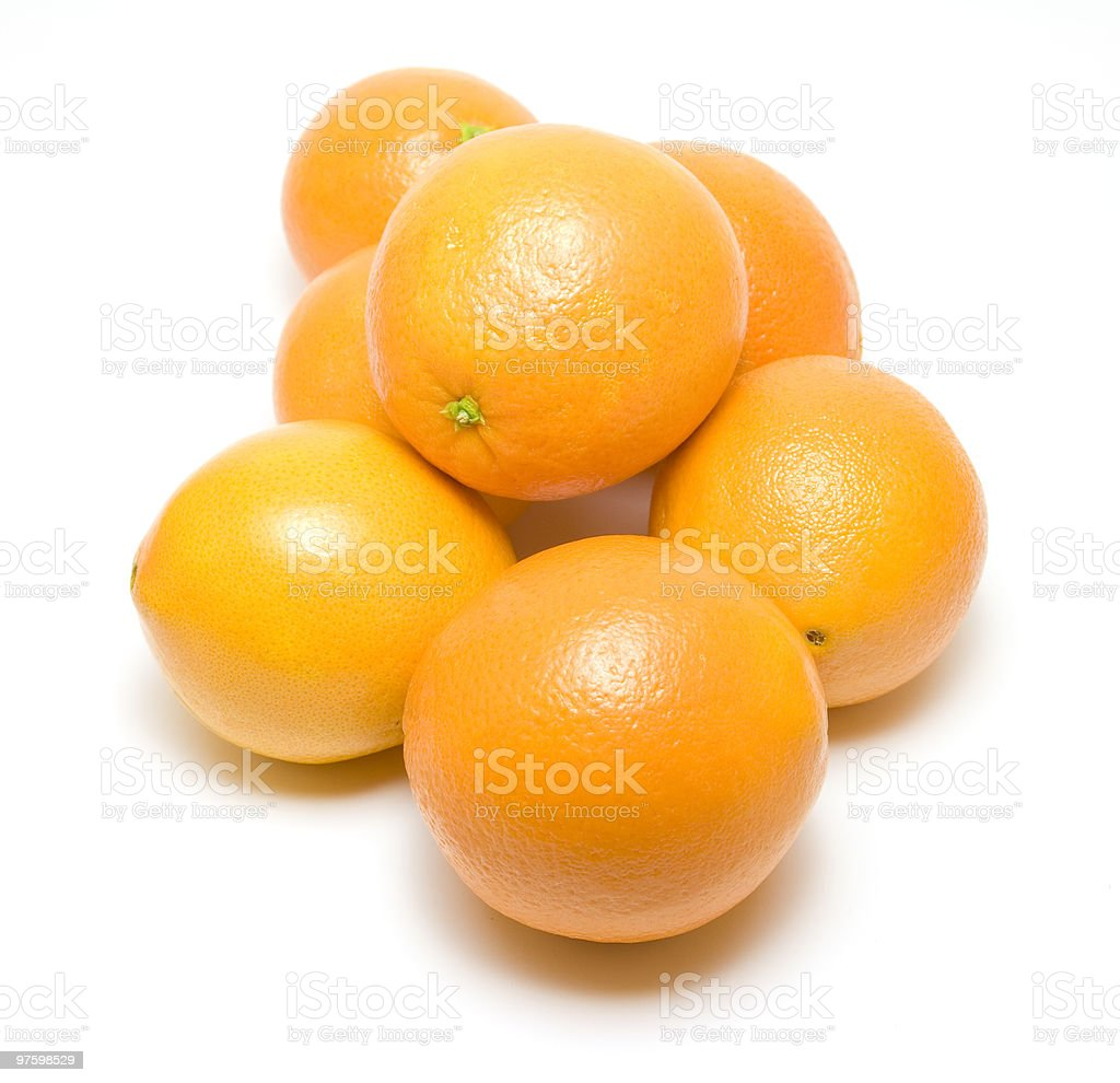 Bunch of oranges royalty-free stock photo