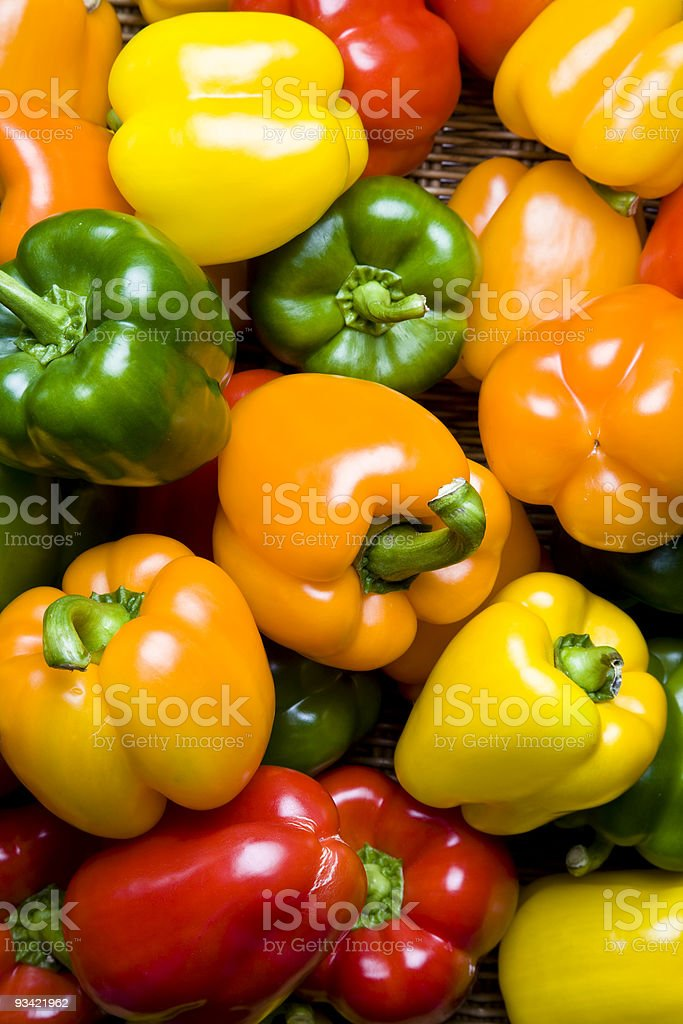 bunch of pepper stock photo