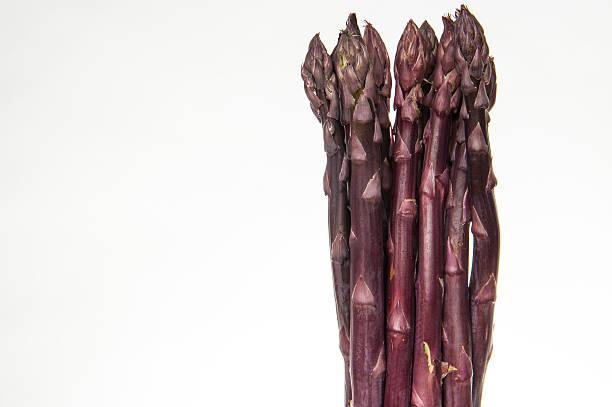 Bunch of Purple Asparagus stock photo