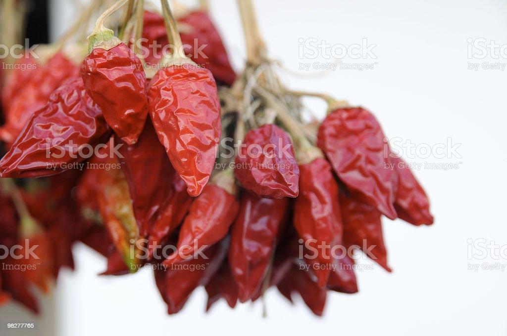 bunch of red chili pepper royalty-free stock photo