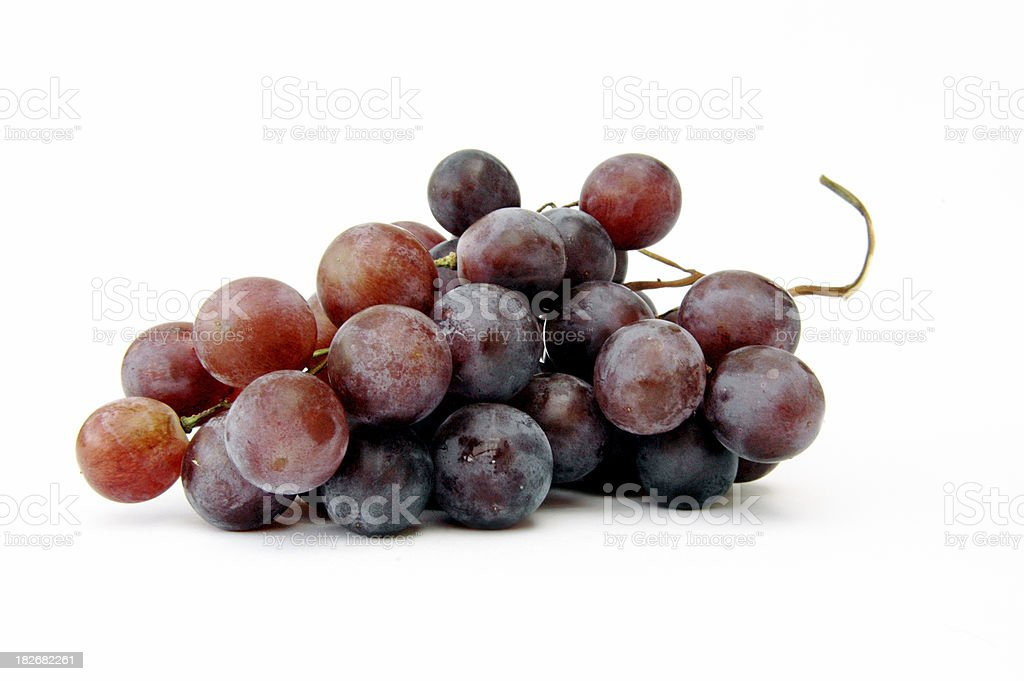 Bunch of red grapes royalty-free stock photo