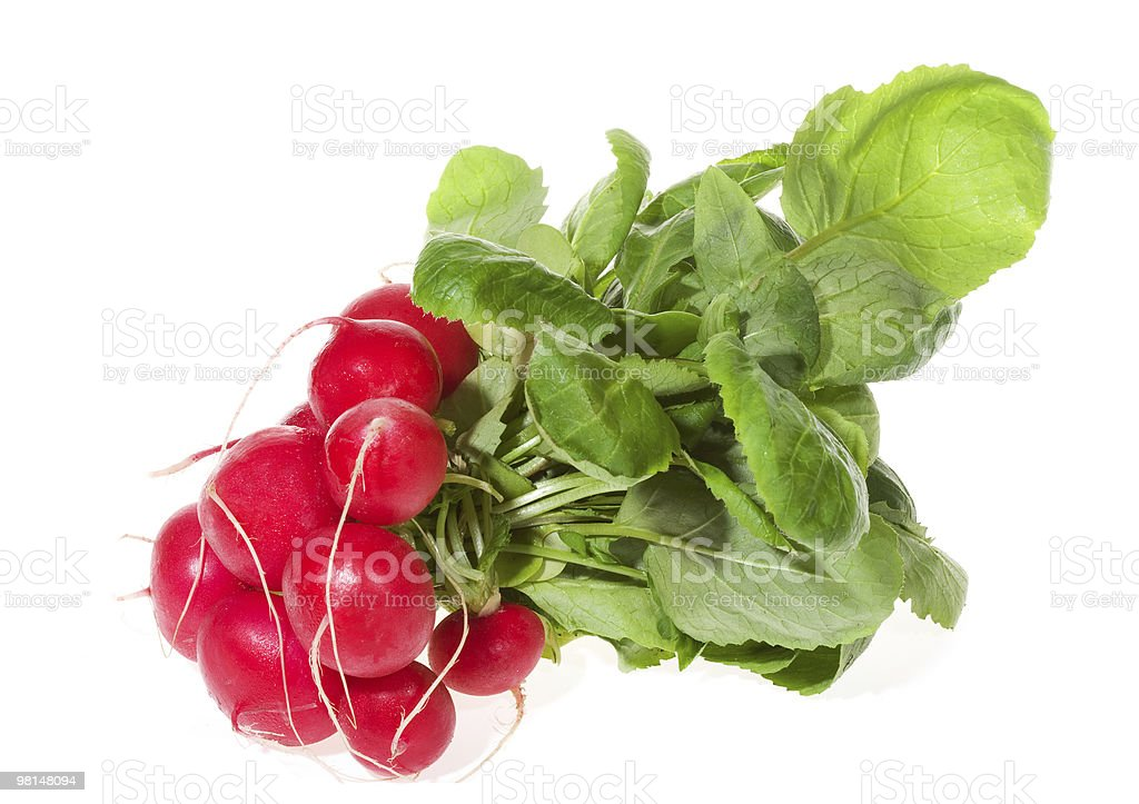 bunch of red radish royalty-free stock photo