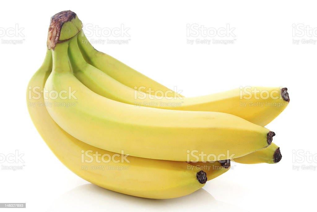 Bunch of ripe banana fruits isolated stock photo